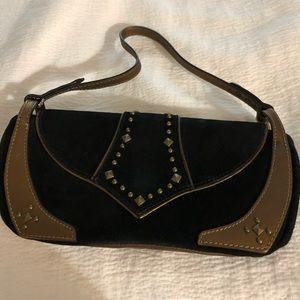 Couture Donald J Pliner brown suede bag